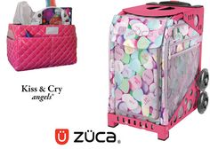 Zuca Sport Bag - Be Mine (Limited Edition) & Kiss and Cry Rink Tote (Bubbly Pink) #figureskating #figureskatingstore #figureskates #skating #skater #figureskater #zucabag #zuca #zucabags #zuca #backpack #zucabackpack #iceskatebag #skatebags #ice #skatingbag #zucastore #zucabackpacks #zucaskatebag