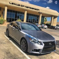 "Cool Lexus: Lexus of Henderson on Instagram: ""2015 Lexus LS 460 F Sport wrapped in brushed titanium. Come 'n get it!!!! #LexusLS #FSPORT #FSPORTFRIDAY #Lexus #Vegas #luxury #performance…""  Lexus LS"
