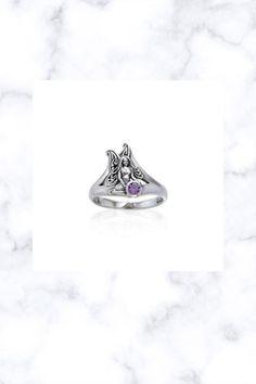 Fairy Holding Gem Sterling Silver Ring peter stone 925 moonstone blue topaz Fantasy Jewelry, Blue Topaz, Sterling Silver Jewelry, Fairy, Gems, Stone, Accessories, Rock, Rhinestones