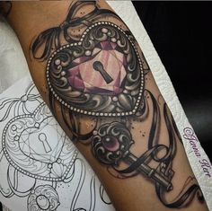 Black and pink locket