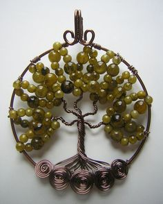 Green Tree of Life *SOLD* by RachaelsWireGarden on DeviantArt