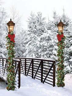 This Christmas Bridge backdrop brings the beauty of winter into your home or  studio. Great for holiday themed portraits.