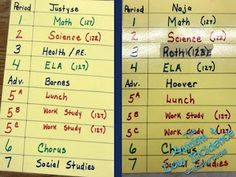 The Autism & Low-Incidence Coaching Team: Super Star Schedules: Top 3 Tips for Creating Written Schedule for Older Students Visual Schedules, Super Star, Autism, Periodic Table, Coaching, Students, Study, Science, Math