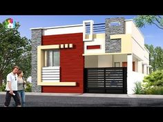 Single Floor House Front Design Individual Houses Modern Front Elevations Single Floor Home House Balcony Design, Single Floor House Design, Village House Design, Bungalow House Design, Small House Design, Modern House Design, Cool House Designs, Front Elevation Designs, House Elevation