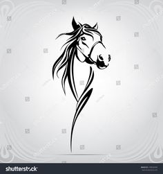 Find Vector Silhouette Horses Head stock images in HD and millions of other royalty-free stock photos, illustrations and vectors in the Shutterstock collection. Airbrush Tattoo, Head And Heart, Horse Head, Black Tattoos, Vector Art, Westerns, Royalty Free Stock Photos, Horse Tattoos, Tatoos