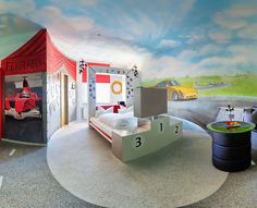 Hotel in Stuttgart boasts 10 car themed rooms furnished with authentic automobile parts and ingenious vehicle-shaped beds. Car Themes, Room Themes, Interior Design Photos, Interior Design Inspiration, Car Themed Rooms, Theme Hotel, Modern Office Design, S Car, Beautiful Living Rooms
