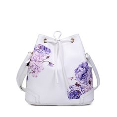Drawstring Side Zip Peony Print Backpack #>=#>=#>=#>=#> Click on the pin to check out discount price, color, size, shipping, etc. Save and like it!