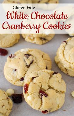 These gluten free White Chocolate Cranberry Cookies, which are crispy on the edges and chewy in the middle, are sure to be a hit. Filled with dried cranberries, white chocolate chips, and a hint of brandy, they will become a year-round favorite.