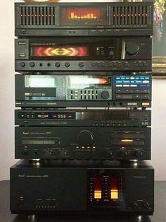 Sansui's future in the ! Audio Stand, Audio Rack, Tape Recorder, High End Audio, Music Images, Hifi Audio, Vintage Tv, Audio Equipment, Audio System