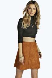 Boutique Millie Suedette Skater Skirt