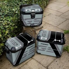 Easy to apply, top quality, bubble free stickers to truly personalise your motorcycle luggage, panniers. Available for BMW 1200 GSA metal panniers Bmw Adventure Bike, Gs 1200 Adventure, Motos Bmw, Bmw Motorcycles, Himalayan Royal Enfield, Motorcycle Luggage, 2017 Bmw, Alfa Romeo Cars, Bmw Series