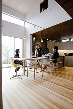 Dining room designed by FIELDWORK (Nagano,Japan) #white #brown