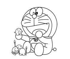 Free Doraemon Cartoon Character Coloring For Kids