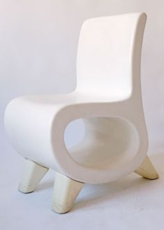 Space Age Modern Lounge Chair  Description:  1970's Awesome Design in White Fiberglass.  Price:  $295.00