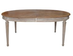 Oval Whitewashed Antique Gustavian Style Dining Table | The  Local Vault