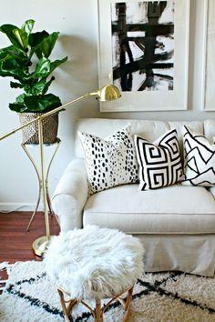DIY designer pillows