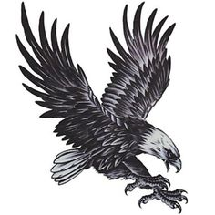 Eagle Tattoo, the eagle image represents freedom, power and sovereignty. Eagle tattoo styles area unit foundations in current tattoo business, and this is. Tattoo Drawings, Body Art Tattoos, Wing Tattoos, Tattos, Hawk Tattoo, Tattoo Man, Tattoo Geometrique, Eagle Drawing, Tattoo Sticker