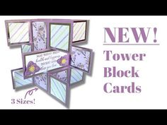 Fancy Fold Cards, Folded Cards, Pop Up Cards, Cool Cards, Easy Cards, Card Making Tutorials, Making Ideas, Side Step Card, Tower Block