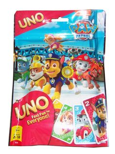 This Paw Patrol Uno card game will be a total hit with your children on game night. Same grest Uno plus the exclusive silver card badge card, Age: 5 years & up. For 2 to 10 players. Uno Card Game, Uno Cards, Card Games, Best Kids Toys, Toys For Boys, Christmas Toys For Toddlers, Creative Toy Storage, Homemade Baby Toys, Building Toys For Kids