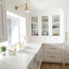 Image result for kitchen with gold hardware