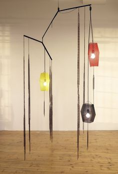 Martin Boyce says: 'This mobile looks like a tree with lights tangled in its branches and, in my studio in December, a strange Christmas tree'