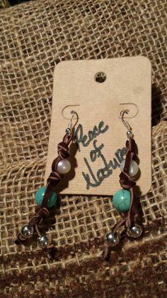 Check out this item in my Etsy shop https://www.etsy.com/listing/222105878/turquoise-and-freshwater-pearl-earrings