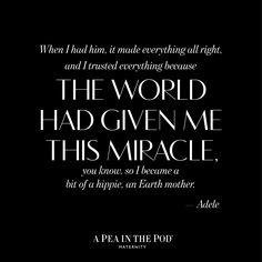 Momspiration Monday // Adele | Celebrity quotes about motherhood