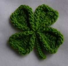 Ravelry: Shamrock and Four Leaf Clover Pin pattern by Cheryl Andrews