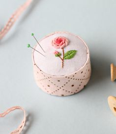 embroidered pincushion | by journeyofmyhands