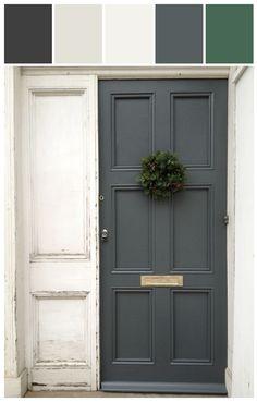 grey door           Neutral Know How | Dark Slate Gray #stylyze #Neutralcolors