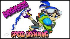 Splatoon Inkling Boy Speed Drawing on Wii U Art Academy