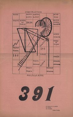 "Dada periodicals. Page layouts and typography: ""391"". Publisher and designer: Francis Picabia"
