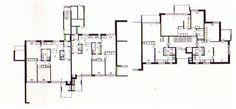 Zona residencial Suvikumpu, Espoo 1962 Floor Plans, Diagram, Architecture