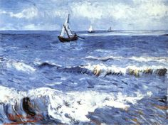 The Sea at Les Saintes-Maries-de-la-Mer, 1888 by Vincent van Gogh.