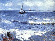 The Sea at Les Saintes-Maries-de-la-Mer, 1888 by Vincent van Gogh.