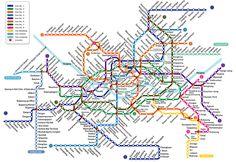 Korea Fanclub : ข้อมูล เที่ยวเกาหลี ทัวร์เกาหลี แพคเกจทัวร์ ราคาพิเศษ แผนที่รถไฟฟ้าใต้ดินเกาหลี - โซล (Seoul Subway map)