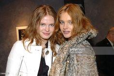 Yulia and Natalia Vodianova attend PAOLO ROVERSI Celebrates His New Book STUDIO at Bergdorf Goodman on February 9, 2006 in New York City.