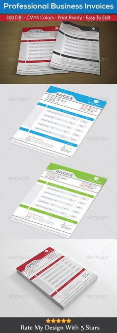 5-corporate-invoice-templates | magazine & flyer | pinterest, Invoice templates