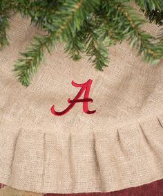 Love this Alabama Crimson Tide Personalized Tree Skirt