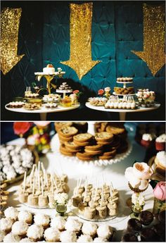 dessert table ideas by jesi haack http://www.weddingchicks.com/2013/12/02/coastal-wedding/
