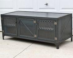 Gran mesa final Industrial reciclado madera por TayloredIronWorks