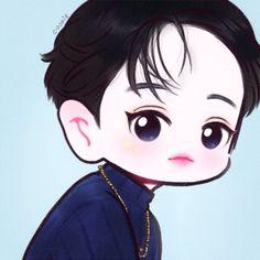 """쿠키🍪 on Twitter: """"🔥… """" Chanbaek Fanart, Kpop Fanart, Exo Cartoon, Exo Stickers, Exo Anime, Exo Fan Art, Kawaii, Exo Chanyeol, Cute Chibi"""