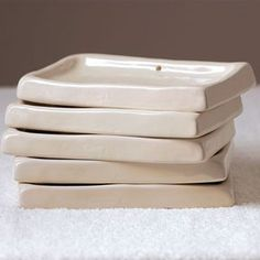 I could find SO many uses for these treasures - ceramic soap dish from Cote Bastide