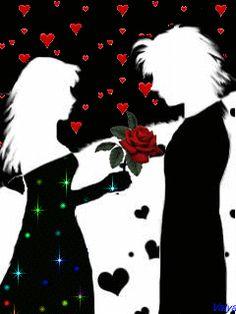For u jan I Love You Images, Love You Gif, Heart Gif, Love Heart, Amor Romance, Coeur Gif, Love Cartoon Couple, Dancing Drawings, Gif Photo