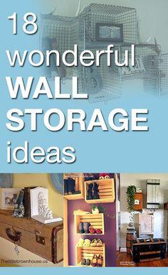 18 Wonderful Wall Storage Ideas
