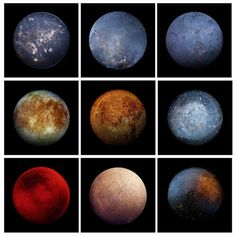 One of these is Jupiter's moon Europa, the rest are frying pans.