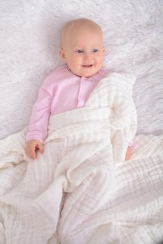 Snuggletime Muslin Cotton Quilt , 100% Cotton soft on baby's skin, perfect for newborns