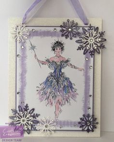 Marie Jones - Cinderella CD - Fabric Companion (A5) - Printable Light Card - Die'sire Snowflakes - Spray & Sparkle Pearl Diamond - Cut n Boss - Collall All Purpose, Tacky & 3D glue - Other: Ribbon, Glue pen, Glitter, Gems, Lilac card, glitter card, mountboard - #crafterscompanion