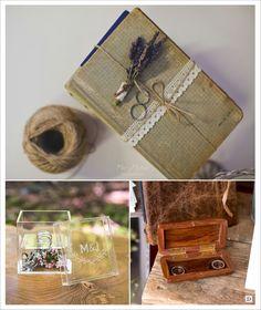 decoration mariage provence porte alliances livre écrin en plexiglas coffre en bois personnalisé Provence, Gift Wrapping, Decoration, Table, Gifts, Diy, Wedding, Olive Wreath, Lavender Bouquet