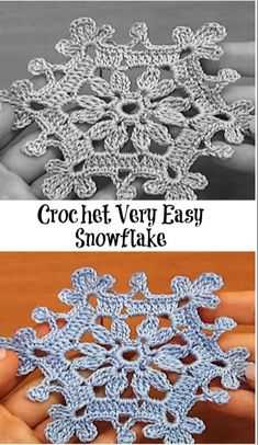 Crochet Very Easy Snowflake verwirrend.akweba… Crochet Very Easy Snowflake verwirrend. Crochet Snowflake Pattern, Christmas Crochet Patterns, Crochet Christmas Ornaments, Crochet Motifs, Crochet Snowflakes, Holiday Crochet, Thread Crochet, Crochet Gifts, Crochet Hooks